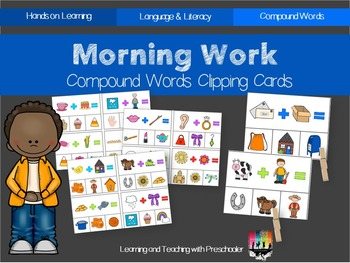 Morning Work Compound Words Clipping Cards