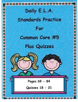 Morning Work DOL For 3rd Grade Common Core ELA Free Pages