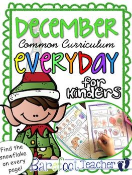 Christmas or December Kindergarten Morning Work