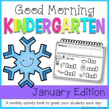 Kindergarten Morning Work {JANUARY}
