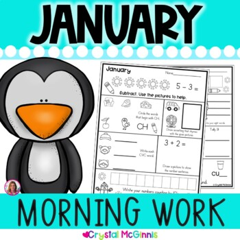 Morning Work! January Winter Kindergarten Common Core Dail