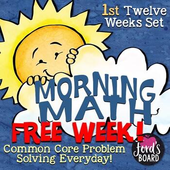 Problem Solving Math Morning Work Sample