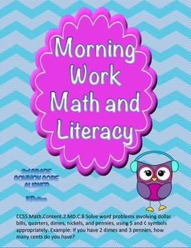 Morning Work Math Freebie