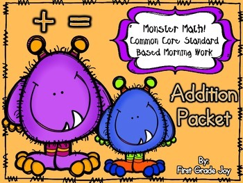 Halloween Monster Addition Packet