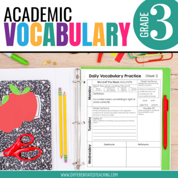 Academic Vocabulary for 3rd Grade: Yearlong Bundle for Mor
