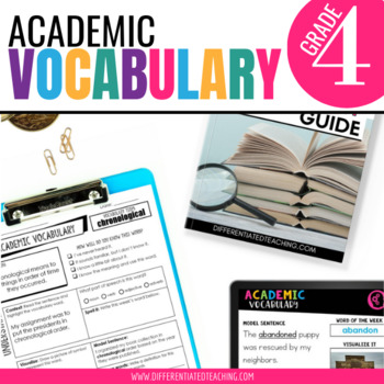 Academic Vocabulary for 4th Grade: Yearlong Bundle for Mor