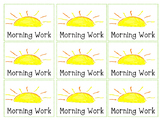 Morning Work Notebook Labels