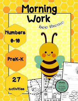 Morning Work, Numbers 0-10, 27 activities! Bees / Spring E