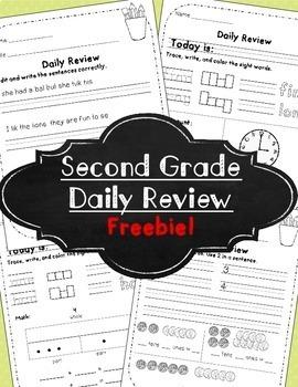 Morning Work! Second Grade ~Freebie!~
