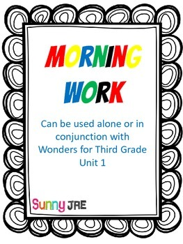Morning Work Unit 1 Wonders