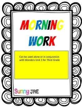 Morning Work Unit 3 Wonders