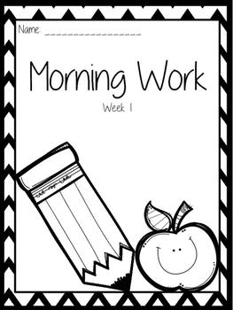 Morning Work Week 1