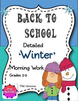Back To School- Winter Morning Work
