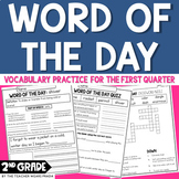 Morning Work: Word of the Day: Quarter 1