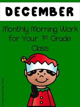 Morning Work for 1st Grade - December
