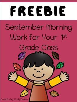 Morning Work for 1st Grade FREEBIE