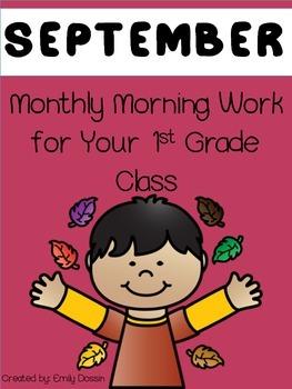 Morning Work for 1st Grade - September