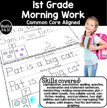 Morning Work for 1st Grade (Welcome Work) Months 9 and 10
