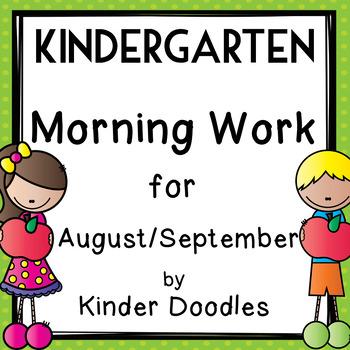 Morning Work for August & September