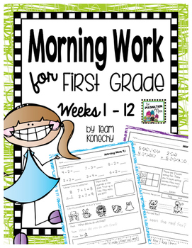 Morning Work First Grade