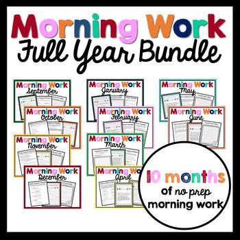 Morning Work - FULL YEAR BUNDLE