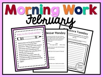 Morning Work - February