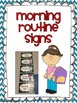 Morning and Afternoon Routine Signs