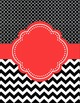 Moroccan and Chevron Binder Covers ~ Two Versions both Bla