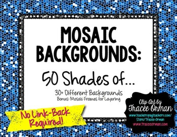 Mosaic Backgrounds: 50 Shades Of... For Commercial Use