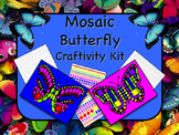 Mosaic Butterfly Craftivity Kit Print and Go - NO PREP - G