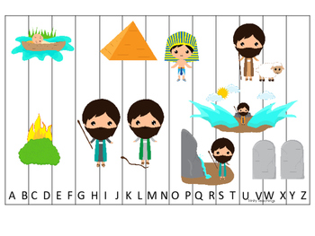 Moses A-Z Sequence Puzzle. Preschool Bible History Curricu