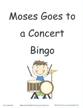 Moses Goes to a Concert Bingo Game ~ Language Arts Activity