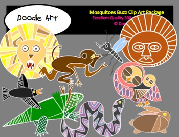Mosquitoes Buzz Clipart Pack