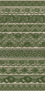 Moss Green Lace Clipart Scrapbook vintage embellishments b
