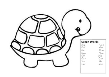 Most 100 used words - Green (turtle)