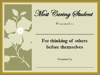 Most Caring Student Award