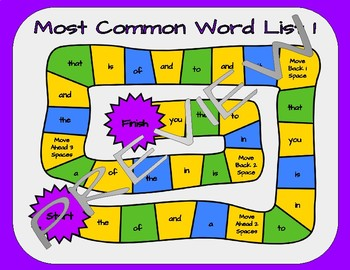 Most Common Word List Game BUNDLE - Reading Horizons