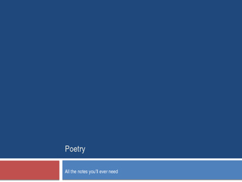Most Comprehensive Poetry Notes on the Web!