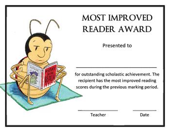 Most Improved Reader Award