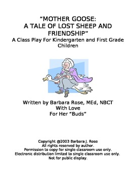 Mother Goose Play Script for Kindergarten, First and Secon