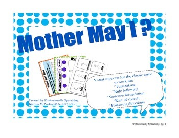 Mother May I Speech/Language Activity