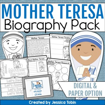 Mother Teresa Biography Pack