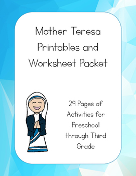 Mother Teresa Printables Activity Packet
