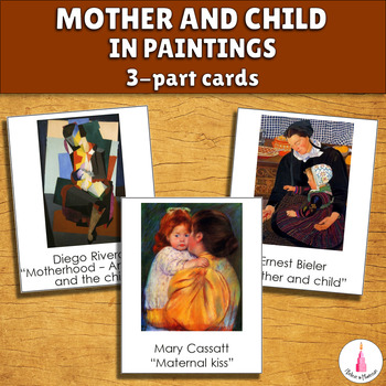 Mother and Child in Art Montessori 3-part Cards