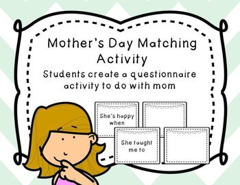 Mother's Day Activity - Make a Matching Game!