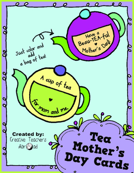 Mother's Day Card - Tea Time Theme