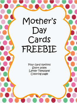 Mother's Day Cards, Poem, and Coloring