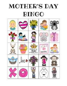 Mother's Day Bingo Custom Printables