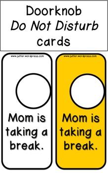 Mother's Day Do Not Disturb Doorhangers