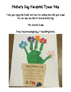 Mother's Day Handprint Flower Pot Craft